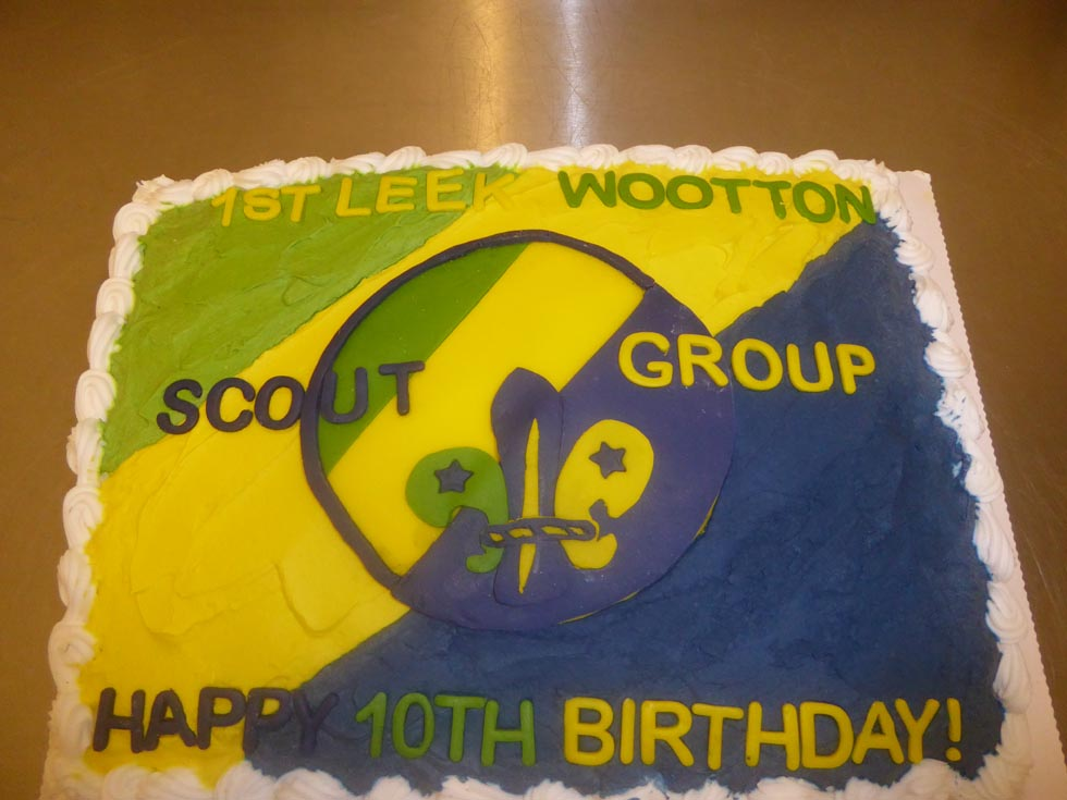 1st Leek Wootton Scout Group celebrated its 10th birthday in December