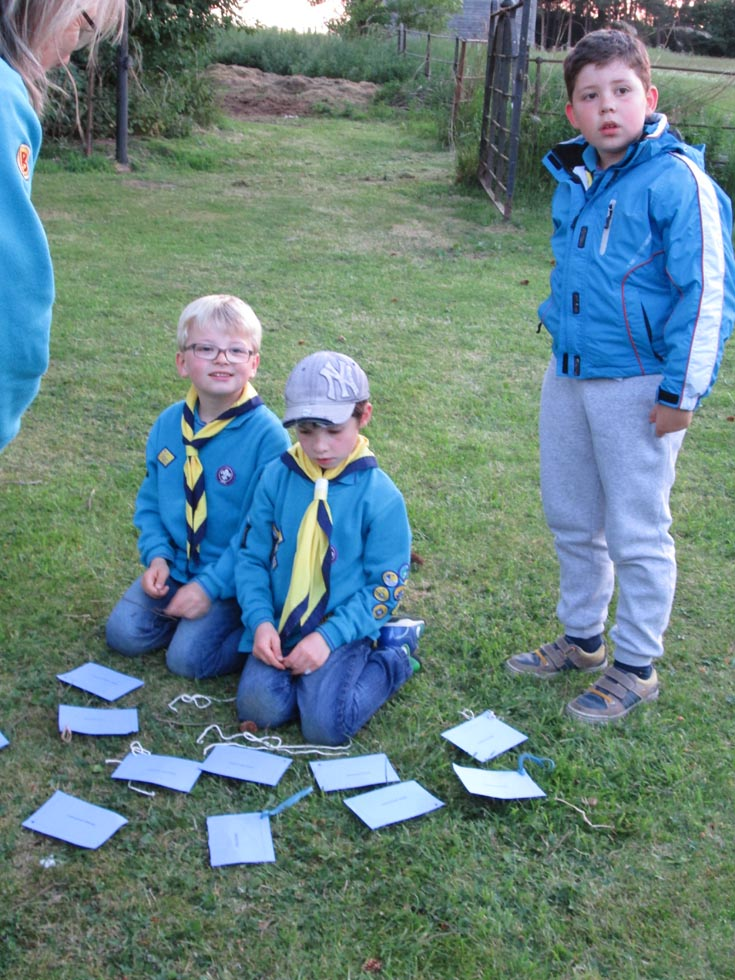 Leek Wootton Beavers helped guard the Bells at All Saints Church