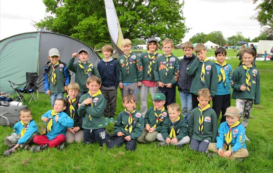 Leek Wootton Beavers and Cubs join Get In 2015
